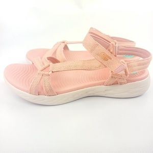 Skechers on the go pink sandals new with tags